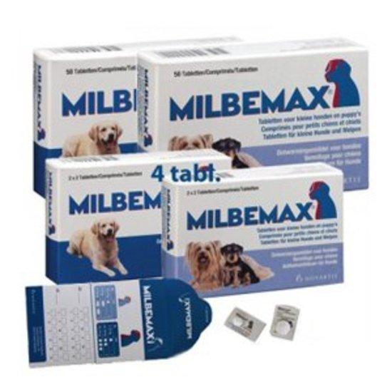 Milbemax grote hond van 10 kg tot 75 kg - 1 st à 2 X 2 Tabletten