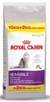 Royal Canin Sensible - Kattenvoer - 10 kg + 2 kg