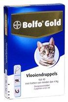 Bolfo Gold Kat Vlooiendruppels 40 (voor katten tot 4 kg) 2 pipetten - 1 ST