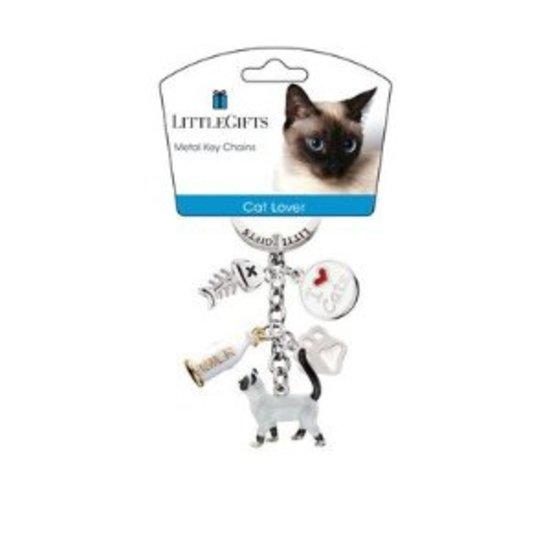 Little Gifts Sleutelhanger - kat staand gekleurd
