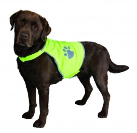 Trixie Veiligheidsjasje Safer Life Fluo Hond S - Kleding - 50 cm - Geel
