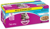 Whiskas - Multi Pack Pouch - Adult - Vis Selectie In Gelei - 40 x 100 gr