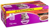 Whiskas - Multi Pack Pouch - Adult - Vlees Selectie In Saus - 40 x 100 gr