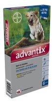 advantix 400/200 spot-on voor honden van 25kg en meer 6x4.0ml