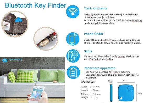 Bluetooth Keyfinder - Sleutelbos zoeker - zwart