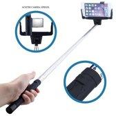 Selfie Stick met Bluetooth en ingebouwde Button zelf ontspanner Zwart voor iPhone 4, 4s, 5, 5s, 5c, 6, 6S en 6 / 6S Plus, Samsung Galaxy S4, S5, S6, S6 edge, S6 plus en S6 Edge Plus Met Spiegel