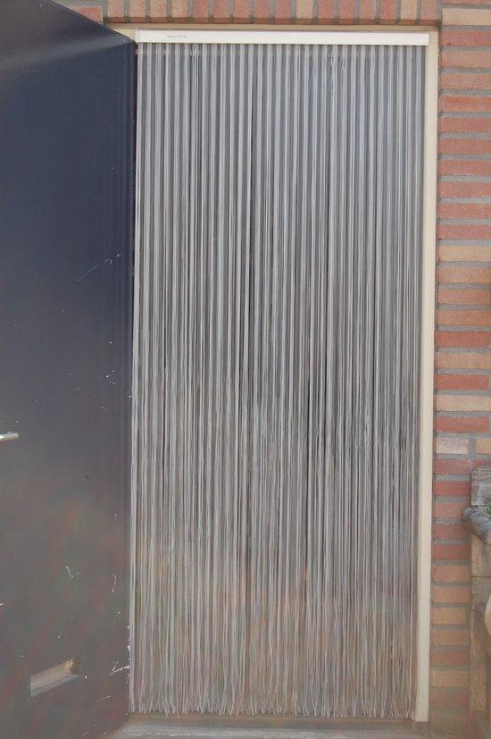 Sun-Arts deurgordijn palermo transparant grijs 90 x 210 cm