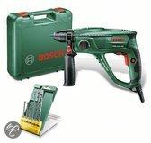 Bosch PBH 2100 RE Boorhamer - 550 Watt - 1.7 J - Met gratis 6-delige SDS Plus S2 borenset t.w.v. 19,95