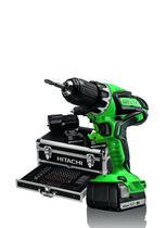 Hitachi DS14DJL Accuboormachine - 2 versnellingen - Inclusief 100-delige toolbox - Met twee Li-Ion accu's en lader