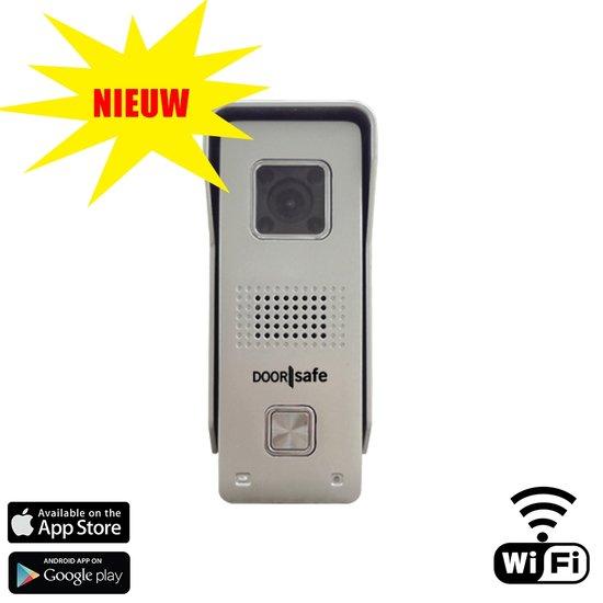 Wifi deurbel met camera, draadloos met intercom. Doorsafe 6600 Professional voor  Android en Apple smartphones. Nieuw: nu ook voor Apple smartphones en tablets!!!!
