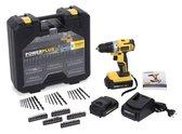 Powerplus POWX0059SET Accuboormachine (18 V) - Incl. 2  Li-Ionbatterijen en 71 accessoires