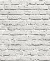 Dutch Wallcoverings papierbehang steenstrip - wit