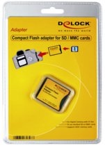 DeLOCK Compact Flash Adapter f. SD, SDHC, SDXC Kaart (61796)