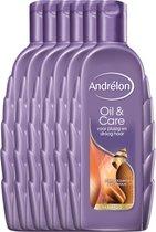 Andrélon Oil & Care - 6 x 300 ml - Shampoo - Voordeelverpakking
