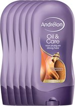 Andrélon Oil & Care - 6 x 300 ml - Conditioner - Voordeelverpakking