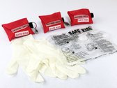 Kiss of Life Key Rood 3x - MEDIC First Aid Safe Kiss - Reanimatie Beademing Gelaatsdoekje Sleutelhanger EHBO Kit