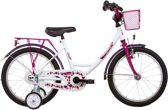 Vermont Girly - Kinderfiets - 18 Inch - Wit/Paars