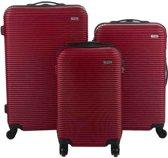 Travelz Horizon - ABS Kofferset 3 delig met cijferslot - Rood