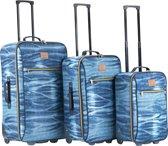 Travelz Kofferset 3 delig - Koffers met 2 wielen - Jeans