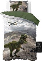 ST4KIDS Dinosaurs - Dekbedovertrek - Eenpersoons - 140x200 + 1 kussensloop 60x70 - Groen