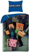 Minecraft Good Guys Dekbedovertrek - Eenpersoons - 140x200 cm - Multi