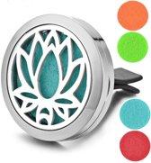 Auto luchtverfrisser met Lotus uitsnede - Aroma therapie diffuser - Geurverspreider