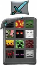 Minecraft Monsters - Dekbedovertrek - Eenpersoons - 140 x 200 cm - Multi