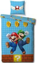 Nintendo Mario - Dekbedovertrek - Eenpersoons - 140 x 200 cm - Multi