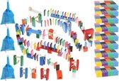 Top 10 Top 10 beste vloerspellen (2021): XXL Gekleurde Houten Dominostenen Set - Met 1080 Domino Stenen & 45 Elementen - Dominoset 1131-Delig