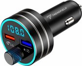 Top 10 Top 10 beste carkits (2021): Trendfield FM Transmitter Bluetooth 5.0 - Carkit USB 3.0 Fast Charge - Auto Accessoires - Beluister Draadloos Muziek via Spotify of Youtube - Zwart