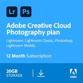 Top 10 Top 10 beste bewerkingssoftware (2021): Adobe Creative Cloud Photography Plan - 1 Apparaat - 1 Jaar - 20GB Cloudopslag - Nederlands / Engels - Windows / Mac Download