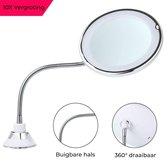Top 10 Top 10 beste staande spiegels (2021): Make-up Spiegel - Met Verlichting - 10x Vergroting - LED - 360° Draaibaar - Mis Geen Haar - Met Zuignap - Make-up Licht - Klein - Wit - Vanli